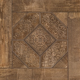 GRES TILE RUSTIC DARK NUT 41.8X41.8(1.4)