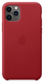 Apple Leather Back Case For Apple iPhone 11 Pro Red