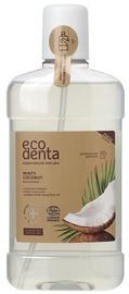 ECODENTA sertificēts COSMOS ORGANIC Minty Coconut mutes skalojamais līdzeklis 500ml