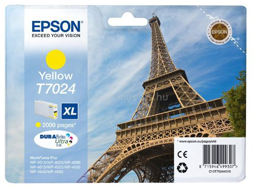 Epson WP4000/4500 Ink Cartridge XL Yellow