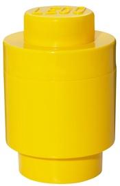 Lego Storage Brick 1 Round Yellow