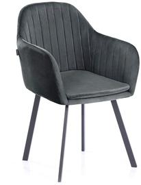Ēdamistabas krēsls Homede Trento Charcoal, 2 gab.