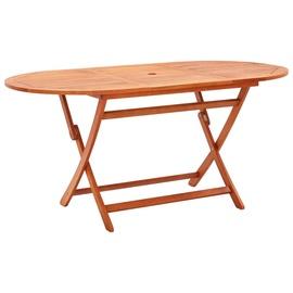 Садовый стол VLX Solid Eucalyptus Wood, коричневый, 160 x 85 x 74 см