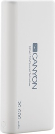 Canyon Ultra-Capacious Lithium Polymer Battery With 3-in-1 USB Cable 20,000 mAh White