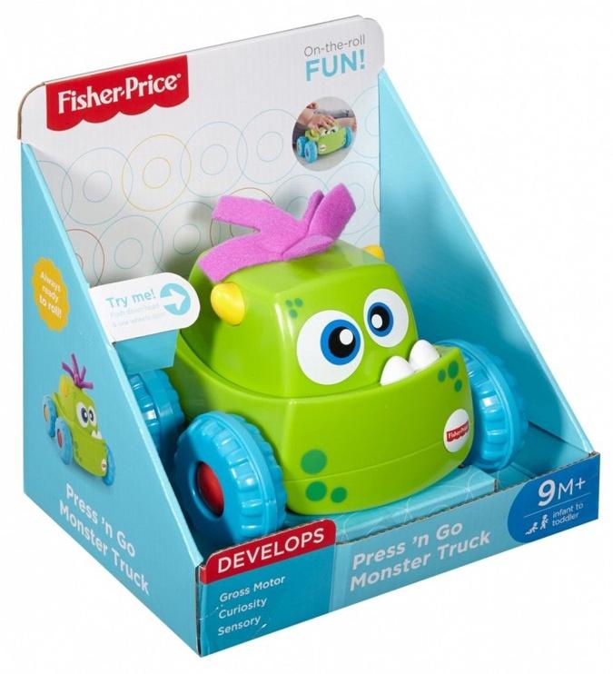 Interaktīva rotaļlieta Fisher Price Press 'N Go Monster Truck Green DRG15