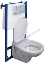 Sienas tualete White, ar vāku