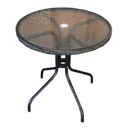 Dārza galds Besk Garden Table Black, 60 x 60 x 70 cm