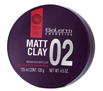 Salerm Matt Clay Medium Hold Matte Clay 125ml