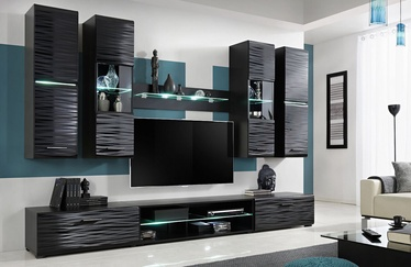 Dzīvojamās istabas mēbeļu komplekts Furnival Blade 4, melna