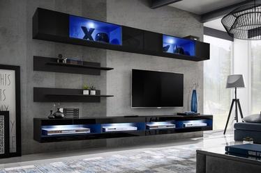 ASM Fly T3 Living Room Wall Unit Set Black