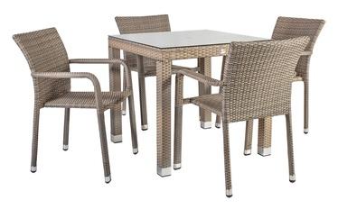 Āra mēbeļu komplekts Home4you Larache K21207, pelēks, 4 sēdvietas