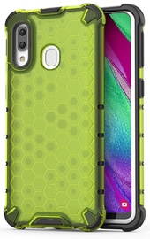 Hurtel Honeycomb Armor Back Case For Samsung Galaxy A40 Green