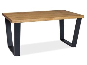 Kafijas galdiņš Signal Meble Valentino B Oak/Black, 1100x600x540 mm