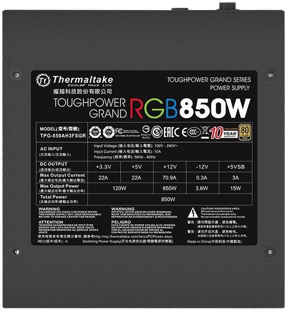 Thermaltake Toughpower Grand RGB 850W PS-TPG-0850FPCGEU-R
