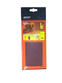 Taisnstūra smilšpapīrs Vagner SDH 108.30 40, 230x93 mm, 5 gab.