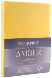 Простыня DecoKing Amber Orange, 200x200 см, на резинке