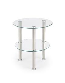 Kafijas galdiņš Halmar Sardinia Stainless Steel, 450x450x480 mm