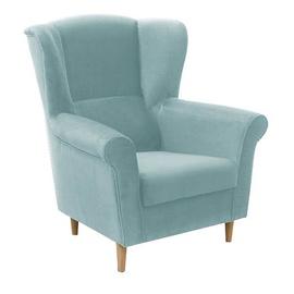 Atzveltnes krēsls Idzczak Meble Loft 1 Light Blue, 88x80x105 cm