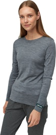 Audimas Fine Merino Wool Long Sleeve Top Mid Grey XS