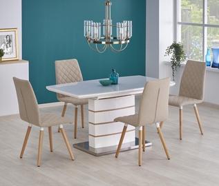 Pusdienu galds Halmar Toronto White/Golden Oak, 1400 - 1800x800x760 mm