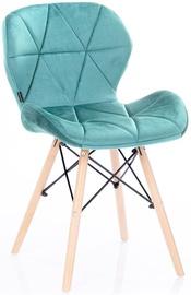 Ēdamistabas krēsls Homede Silla Velvet Turquoise, 4 gab.