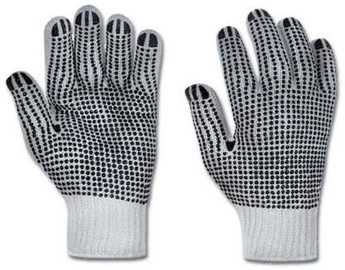 DD Gloves Knitted With PVC Single-Sided Black Dots 10