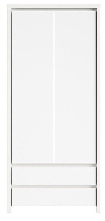 Skapis Black Red White Kaspian, balta, 90x55.5x200.5 cm