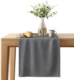AmeliaHome Blackout Caspe Tablecloth 40x140cm Steel