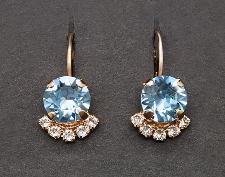 Diamond Sky Earrings Glory III With Swarovski Crystals