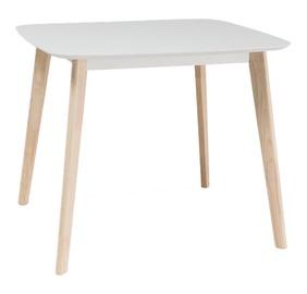 Обеденный стол Signal Meble Tibi Oak/White, 900x800x750 мм