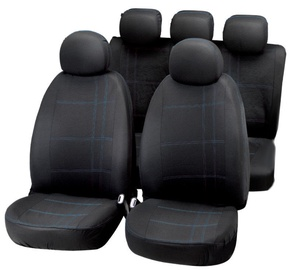 Bottari Embroidery Seat Cover Set Black Blue