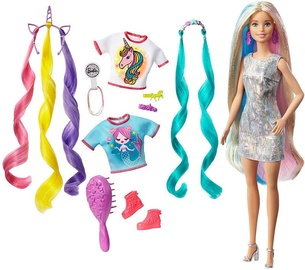 Lelle Mattel Barbie Fantasy Hair With Mermaid & Unicorn Looks GHN04