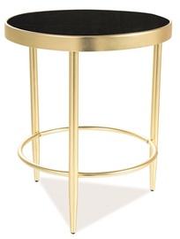 Kafijas galdiņš Signal Meble Mystic C Black/Gold, 420x420x480 mm