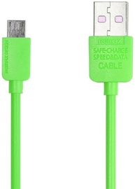 Remax Safe Speed Universal USB To Micro USB Data Charging Cable 1m Green