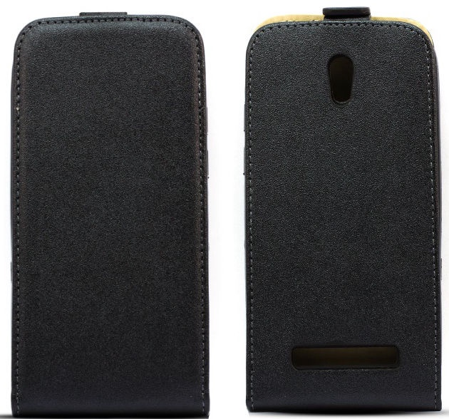 Telone Shine Pocket Slim Flip Case Sony E5603/E5606/E5653 Xperia M5 Black