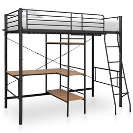 Двухъярусная кровать VLX 287907, черный, 210x97.5 см