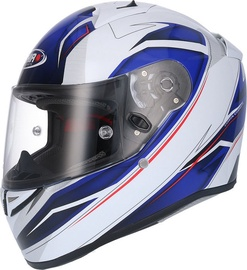 Shiro Helmet SH-336 Crown White Blue M