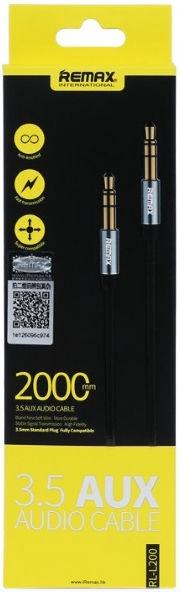 Vads Remax L200 3.5mm Aux Jack Cable 2m Black