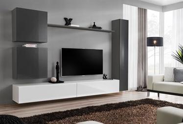 Dzīvojamās istabas mēbeļu komplekts ASM Switch VIII Graphite/White