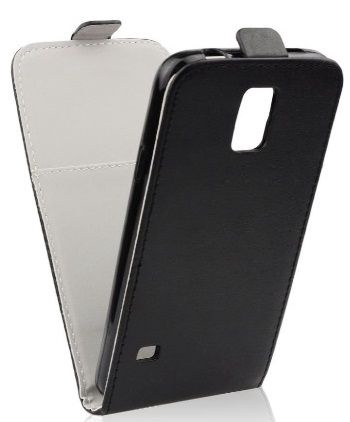 Forcell Flexi Slim Flip LG F70 D315 Vertical Case Black