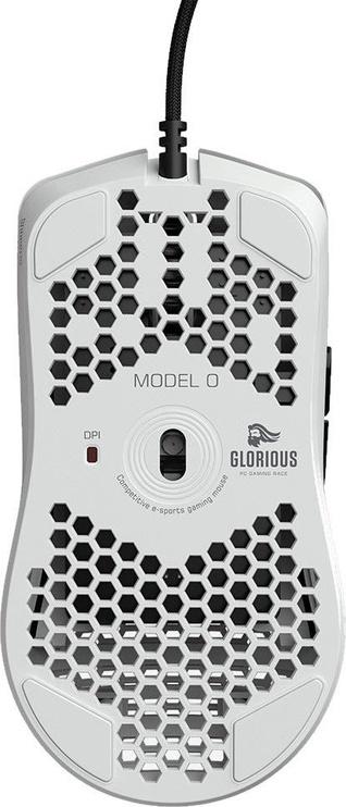 Spēļu pele Glorious PC Gaming Race Race Model O Glossy White, vadu, optiskā