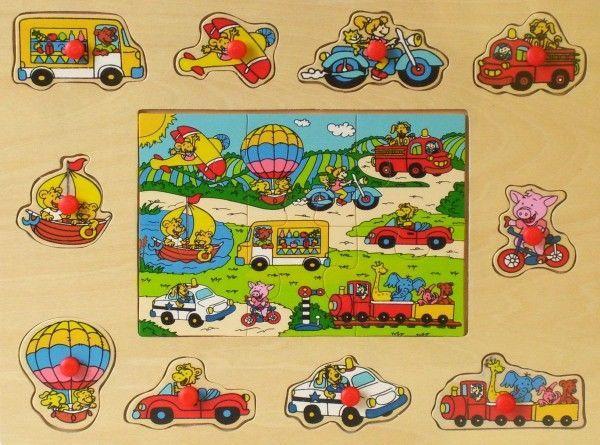 Puzle Brimarex Vehicles 4256, 16 gab.