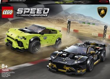 Konstruktors LEGO® Speed Champions Lamborghini Urus ST-X & Lamborghini Huracan Super Trofeo EVO 76899, 663 gab.