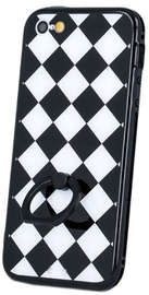 Mocco Grid Ring Back Case For Samsung Galaxy S6 Black/White