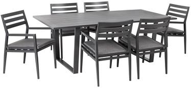Комплект уличной мебели Home4you Phoenix 15406, серый, 6 места