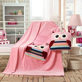 Sega DecoKing Cuties Pink Owls, 110x160 cm