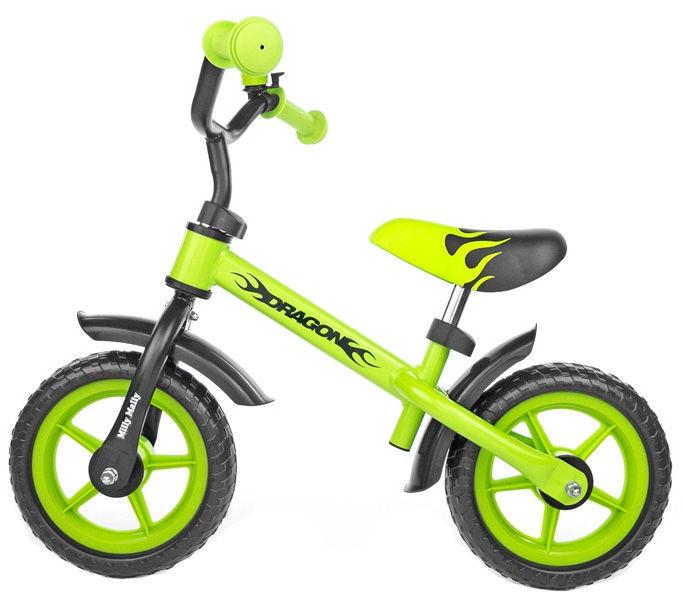 Балансирующий велосипед Milly Mally Dragon 4867, зеленый, 10″