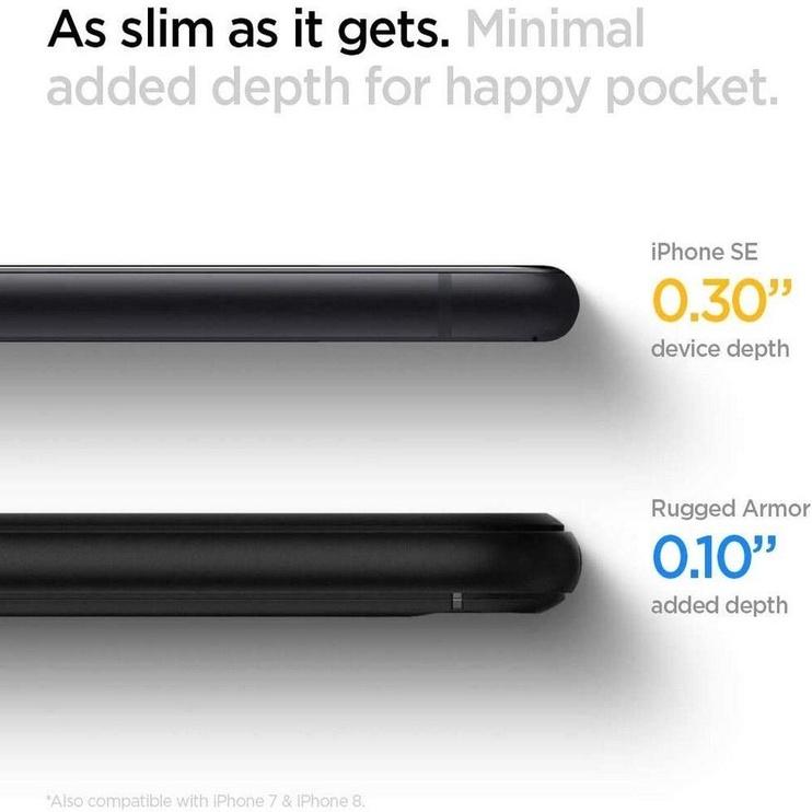 Spigen Rugged Armor Back Case For Apple iPhone 7/8/SE 2020 Black