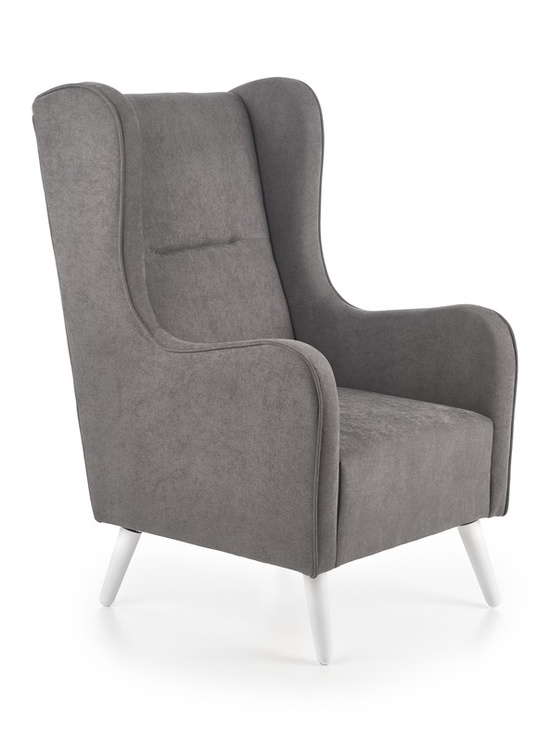 Atzveltnes krēsls Halmar Chester, pelēka, 85x67x114 cm