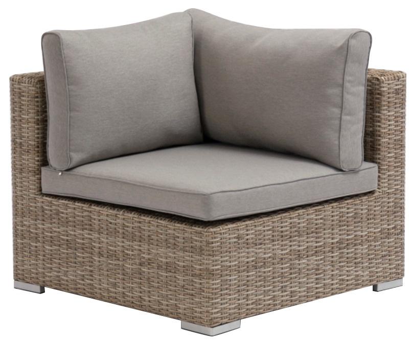Садовый диван Masterjero, коричневый, 84 см x 84 см x 65 см